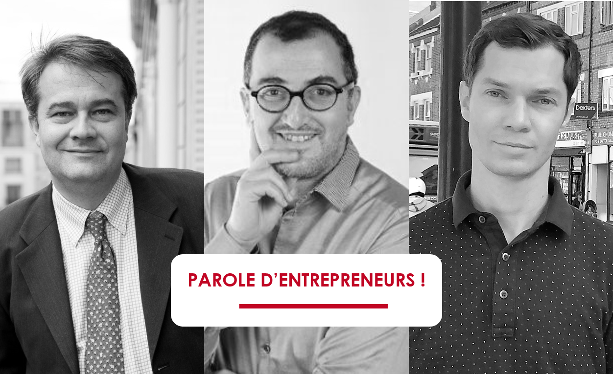 Yves Kergall, Jean-François Nawawi, Arnaud Vuillaume, fondateurs de Mon Avis Citoyen