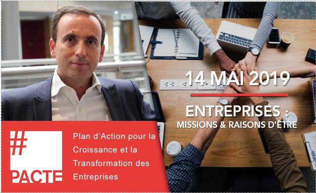 """François Perret, intervenant à l'événement du 14 mai """"Entreprises : missions et raisons d'être"""""""