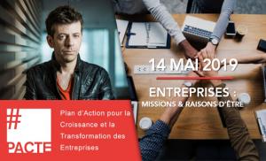 """David Lacombled à l'événement du 14 mai """"Entreprises : Missions et raisons d'être"""""""