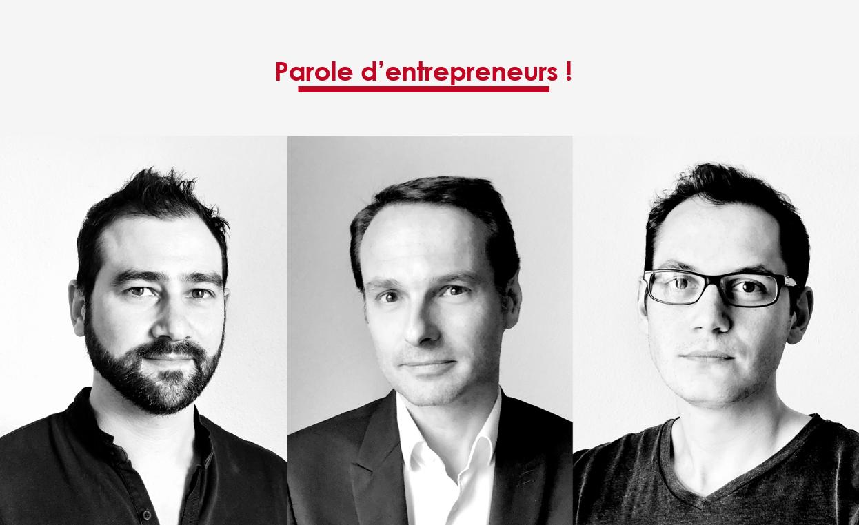 Fondateurs de Les Georges : Richard Renard, Grégory Tschanturia, Germain Chavigny