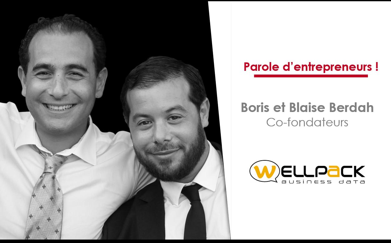 Blaise et Boris Berdah, co-fondateurs de WellPack, Parole d'entrepreneurs