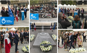 Inauguration du Monument au Civil inconnu